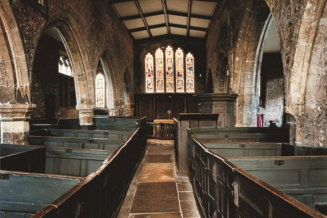 Interior of Holy Trinity Parish Church with box pews. Photograph from TripAdvisor --https://www.tripadvisor.com/Attraction_Review-g186346-d2181547-Reviews-Holy_Trinity_Church-York_North_Yorkshire_England.html